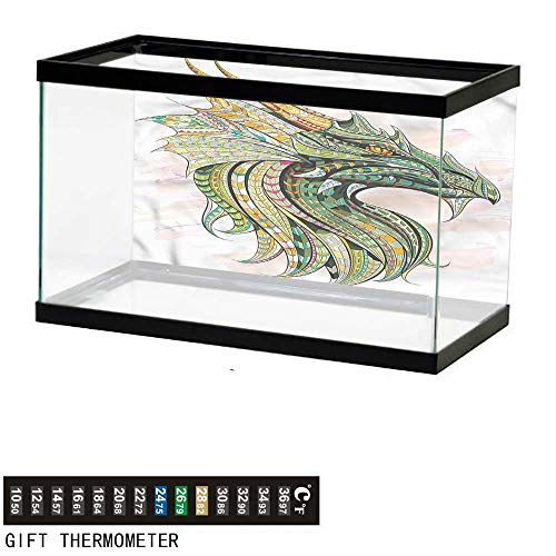 bybyhome Fish Tank Backdrop Celtic,Legend Grunge Celtic,Aquarium Background,30