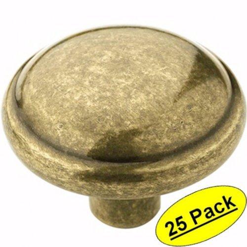 Amerock BP53000-BB Burnished Brass Discus Cabinet Knob - 1-1/4