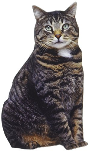 Paper House Productions M-0001E Die Cut Refrigerator Magnet, Brown Tabby Cat (Fun Friends Die Cut)