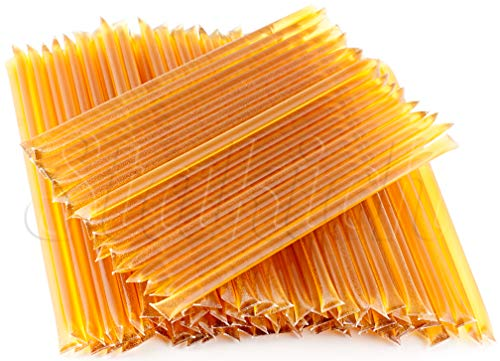 Stakich Honey Stix   100% Pure, Unfiltered U.S. Grade A Honey (Orange Blossom), 100 Sticks - Kosher Certified   Perfect for Gifts, Tea, Kids Snacks, Travels and Outdoors