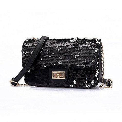 Martens 14 Eye Zip - GMYANDJB Shoulder Bags Women's Bags PU Polyurethane Shoulder Bag Sequin White Black Blushing Pink