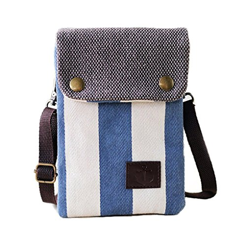 Girls Women Mini Cute Crossbody Bag Cellphone Purse Wallet Canvas Bags with Adjustable Shoulder Strap for Apple iPhone, Samsung Galaxy S6 S5S4 Note 5 4