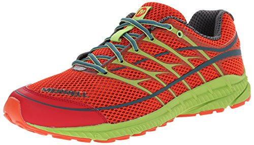 Merrell Men's Mix Master Move 2 Trail Running Shoe, Haute Red/Lime Green, 8.5 M US