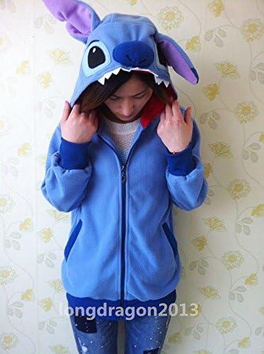 Kigurumi Lilo & Stitch Azul con capucha chaqueta de la capa ...