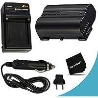 High Capacity Replacement Nikon EN-EL15 Battery And AC/DC Quick Charger Kit for Nikon D750 D7200, D810A, D7000, D7100, D810, D800, D800E, D600, D610, 1V DSLR Cameras