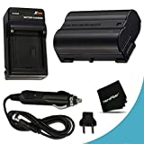 High Capacity Replacement Nikon EN-EL15 Battery And AC/DC Quick Charger Kit for Nikon D750 D7200, D810A, D7000, D7100, D810, D800, D800E, D600, D610, 1V DSLR Cameras