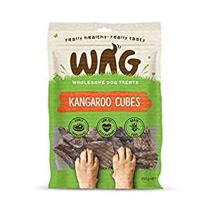 Kangaroo Cubes 200g, Grain Free Hypoallergenic Natural Australian Made Dog Treat Chew, Perfect for Puppies and Seniors Click on image for further info.
