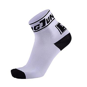 Enjoyall Hombre y Mujeres Transpirables absorbentes del Sudor Que montan Calcetines Deportivos Calcetines de Ciclismo en