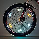 Willceal Bike Spoke Light 6PCS, Bike Wheel Light,Tyre Wire Right with 6 LED Flash Model Neon Lamps,Bike Safety Alarm Light. (Multi-corlor)
