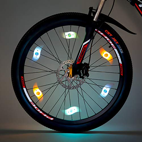 Light 6PCS, Bike Wheel Light,Tyre Wire Right with 6 LED Flash Model Neon Lamps,Bike Safety Alarm Light. (Multi-corlor) ()