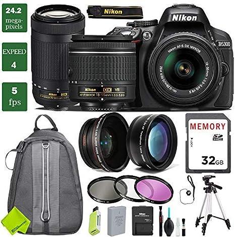 Nikon D5300 cámara réflex Digital con Lente de 18-55 mm Paquete 3 ...