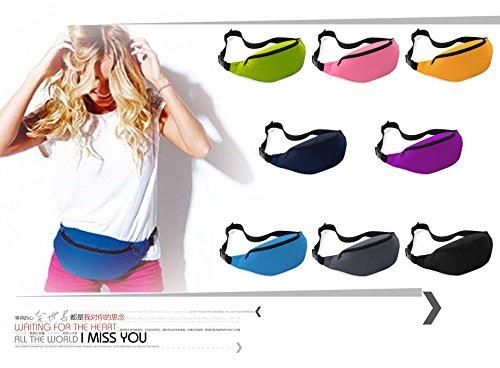 Unisex Simple Oversized Bag Style Outdoor Waist MOLLYGAN Red Travel Nylon T5dqtv4wx
