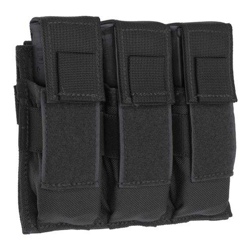 Tac Shield Triple Universal Pistol Molle Pouch, Black ()
