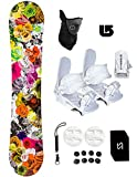 womens 140 snowboard package - 140cm Slq Dc Secret Snowboard +Wht Bindings Package +Leash+Stomp+Face Mask+Burton Decal (Bindings White S Lady(fit 5-7), 140cm SLQ Secret WF118)