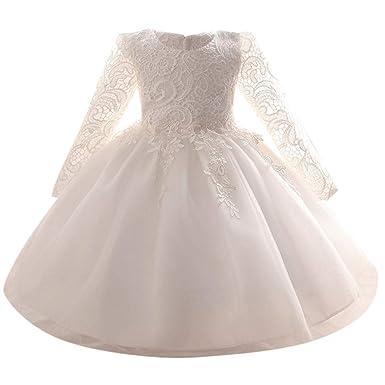 0e692a077eb OHQ Enfant Bébé Robe De Soiree Fille Chic Mariage Courte Vintage Ronde  Roulé Fermeture Coton Princesse