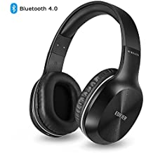 Edifier Wireless Headset, Stereo Over-Ear Bluetooth Headphones Mic Lightweight Leather Ear Pads Wired Ear Headphones Running Work Travel - 800 Hours Standby Time (Black)