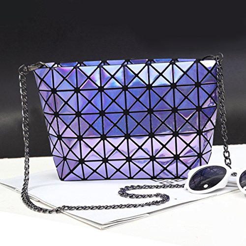 des flada de jaune hologramme partager mesdames sacs l'épaule les pour chaîne main sacs géométrique écossais sacs à à croix commun violet cuir en réseau diamant rq8rT1gw