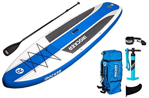iRocker Inflatable CRUISER Stand Up Paddle Board 10'6'' Long 33'' Wide 6'' Thick SUP Package by iROCKER