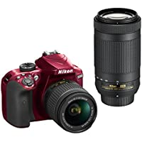 Nikon D3400 w/ AF-P DX NIKKOR 18-55mm f/3.5-5.6G VR & AF-P DX NIKKOR 70-300mm f/4.5-6.3G ED (Red)