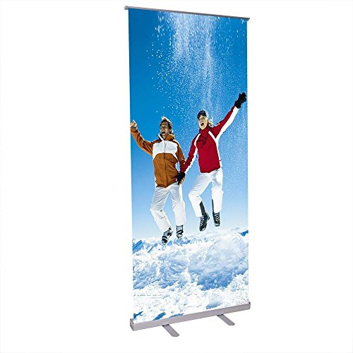 32'' x 79'' Economy Telescopic Rollup Retractable Banner Stand by Unitech