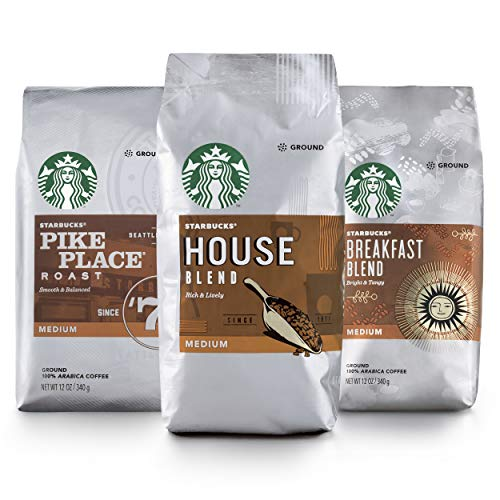 Starbucks Medium Roast Ground Coffee — Variety Pack — 100% Arabica — 3 Bags (12 oz. Each)