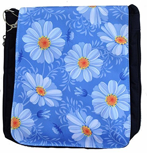 Multi-Pocket Crossbody Shoulder Bag Messenger Bag Unisex - Daisies