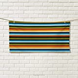 Chaneyhouse Striped,Hand Towel,Mexican Inspirations in Hand Made Horizontal Lines with Woven Ornamental Style,Quick-Dry Towels,Multicolor Size: W 20'' x L 20''