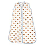 Luvable Friends Baby Infant Safe Wearable Muslin Sleeping Bag, Fox, 0-6 Months