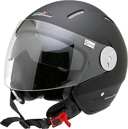 Scotland Casco moto con visera talla 57 58 L negro mate