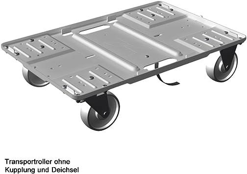Transporte Roller aluminio, superficie 600 x 400 mm, apilable, Transporte Dolly, ruedas, caja Roller, para cajas Euro (aluminio sin embrague eje): Amazon.es: Bricolaje y herramientas