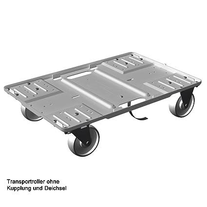 Transporte Roller aluminio, superficie 600 x 400 mm, apilable, Transporte Dolly, ruedas