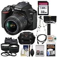 Nikon D3500 Digital SLR Camera & 18-55mm VR DX AF-P Lens with 32GB Card + Case + Tripod + 2 Lens Kit