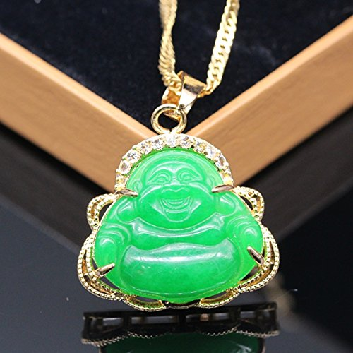 2017 Luck Happy Green Jade Buddha Pendan - Luck Buddha Pendant Shopping Results