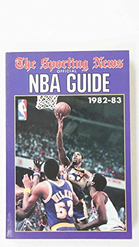 1982-83THE SPORTING NEWS OFFICIAL NBA GUIDE MAJIC JOHNSON/WILKES LAKERS COVER #3