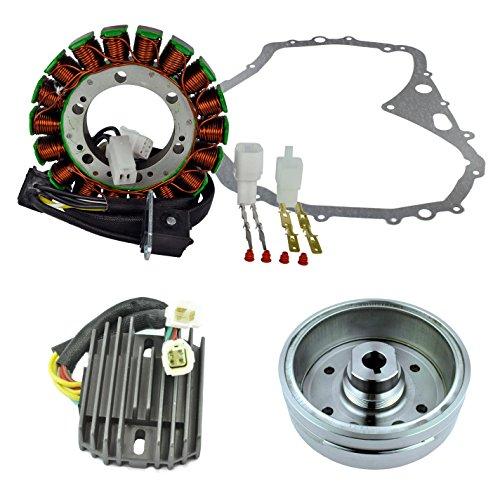 Kit Improved Flywheel + Stator + Crankcase Cover Gasket + Voltage Regulator For Arctic Cat 400 Manual 2003 2004 2005 2006 2007 2008