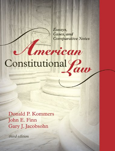 Download American Constitutional Law: Essays, Cases, and Comparative Notes Pdf