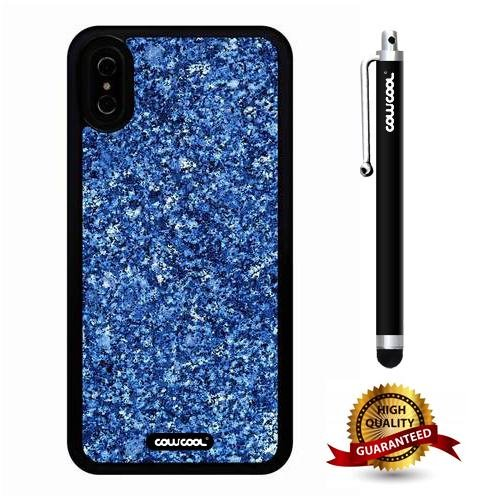 iPhone X Case, Marble Pattern Case, Cowcool Ultra Thin Soft Silicone Case for Apple iPhone 10 - Rock Polka Dots Marble Texture