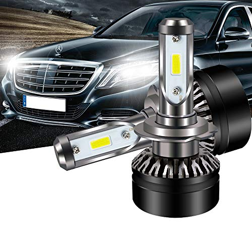 TURBOSII DOT Approved H7 LED Headlight Bulb Conversion Kit 6000LM Led Fog Lights Replace HID Xenon Halogen Bulbs for Hyundai Santa Sonata Veloster Subaru VW Jetta SE GLI CC GLOF (05 Vw Volkswagen Passat Headlight)