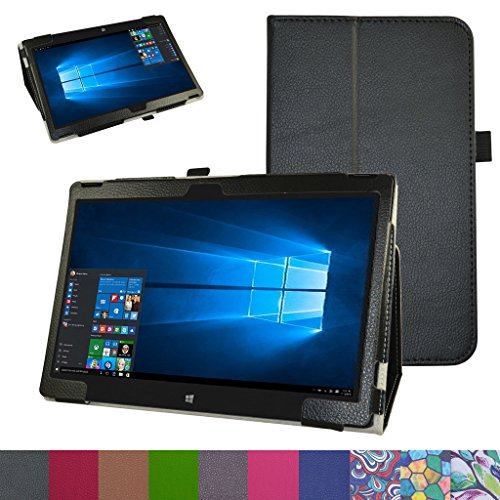 Latitude 12 7275 Case,XPS 12 9250 Case,Mama Mouth PU Leather Folio 2-Folding Stand Cover for 12.5
