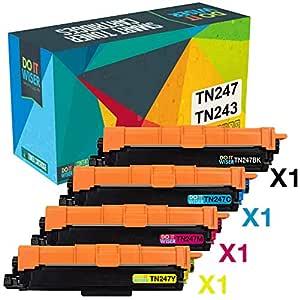 Do it Wiser Cartuchos de Tóner TN247 TN243 Compatibles para ...