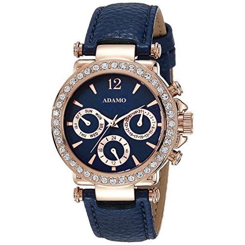 51xNShJHrUL. SS500  - ADAMO Multifunction Analog Blue Dial Women's Watch - A208KB05