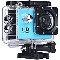 Howley Mini 1080P Full HD DV Sports Recorder Car Waterproof Camera Camcorder (Blue)