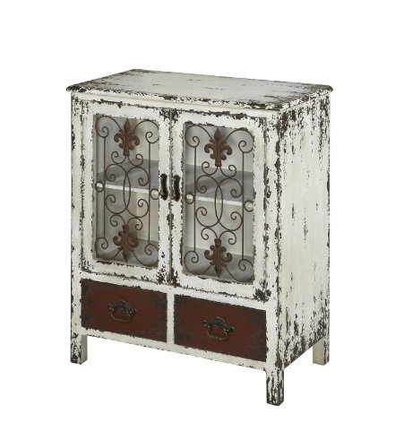 Powell Furniture Parcel 2-Door 2-Drawer Console, White