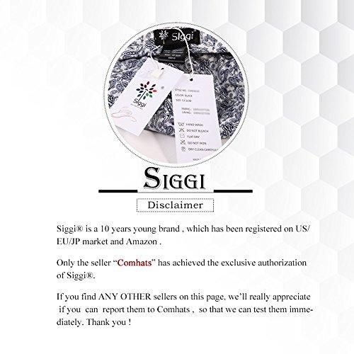 SIGGI Ladies UPF50+ Summer Sunhat Cotton Bucket Breathable Foldable Wide Brim Hats w/Chin Cord Beige by SIGGI (Image #6)