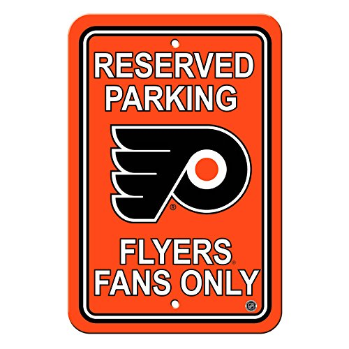 NHL Authentic Reserved Parking Sign, 12 x 18 Inch - Philadelphia - Parking Nhl Sign Inch 18