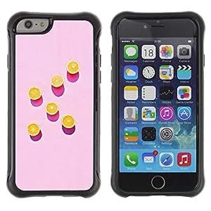 "Pulsar iFace Series Tpu silicona Carcasa Funda Case para Apple (4.7 inches!!!) iPhone 6 , Arte Naranja Rosa Pintura Patrón Profundo"""