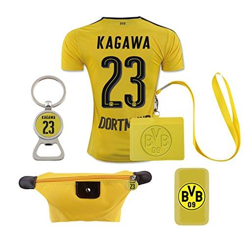 #23 Kagawa (6 in 1 Combo) Dortmund Home Match Adult Soccer Jersey 2016-17