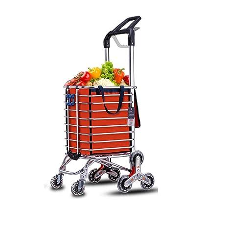 Amazon.com: Carrito de la compra plegable para escaleras ...