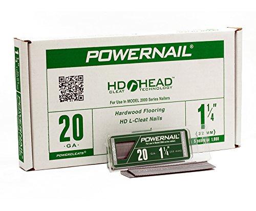 Powernail 20ga 1-1/4'' HD L Cleat Flooring Nail (5-1000ct boxes) by Powernail