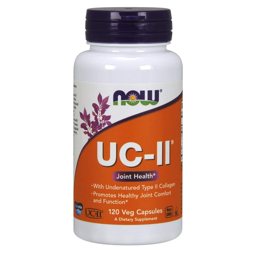 NOW Supplements, UC-II Type II Collagen with Undenatured Type II Collagen, 120 Veg Capsules by NOW